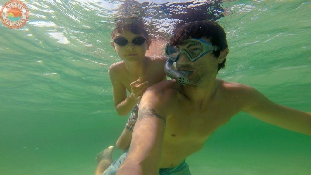 snorkeling for sand dollars - Destin Florida beach